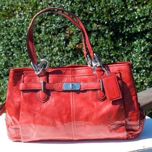 Coach 18960 Chelsea Jayden Red Patent Leather Tote
